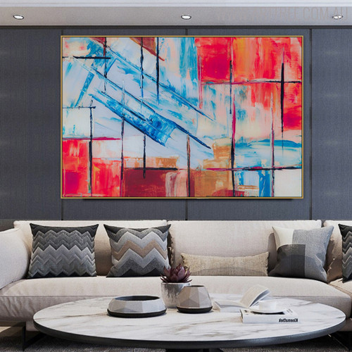 Strokes Abstract Modern Texture Canvas Resemblance for Room Wall Decoration