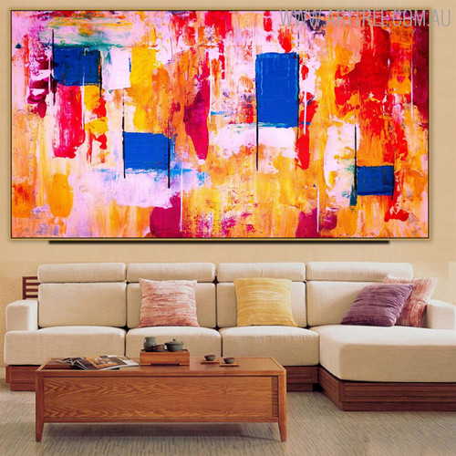 Shot Abstract Modern Texture Handmade Canvas Portrayal for Home Wall Onlay
