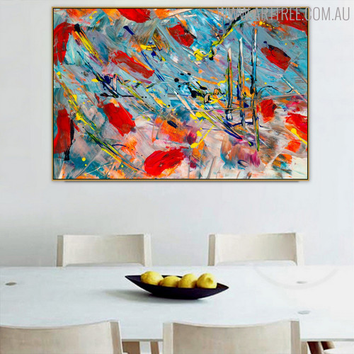 Wrinkles Effect Abstract Modern Texture Canvas Draught for Dining Room Wall Outfit