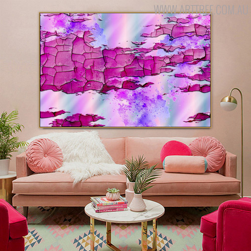 Erosion Texture Modern Handmade Oil Resemblance for Living Room Wall Tracery