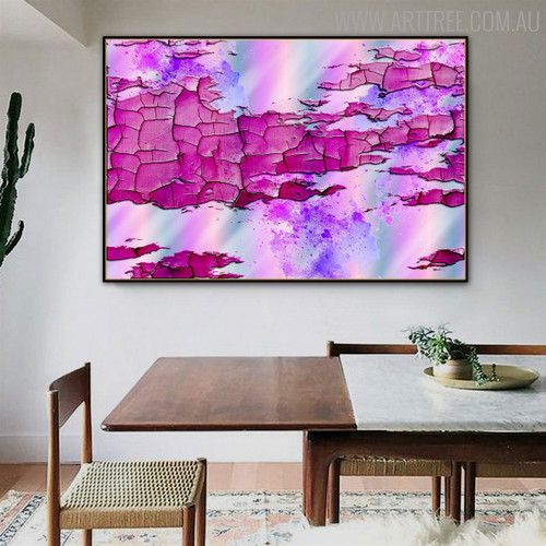 Erosion Texture Modern Handmade Oil Resemblance for Dining Room Wall Decor