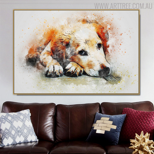 Labrador Retriever Animal Modern Oil Scheme on Canvas for Living Room Wall Ornament