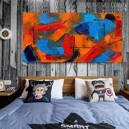 Bushy Abstract Texture Canvas Vignette for Interior Wall Outfit