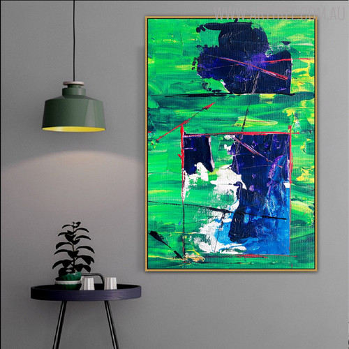 Stria Abstract Modern Handpainted Canvas for Interior Wall Ornamentation