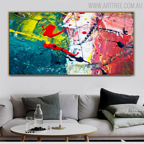 Mix Abstract Modern Texture Handmade Oil Artwork for Room Wall Getup