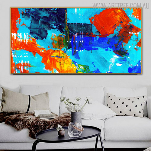 Commingle Abstract Modern Texture Canvas Wall Art for Interior Wall Outfit