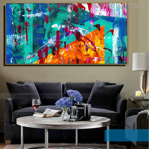 Hued Blend Abstract Modern Texture Handmade Canvas Artwork for Room Wall Garniture