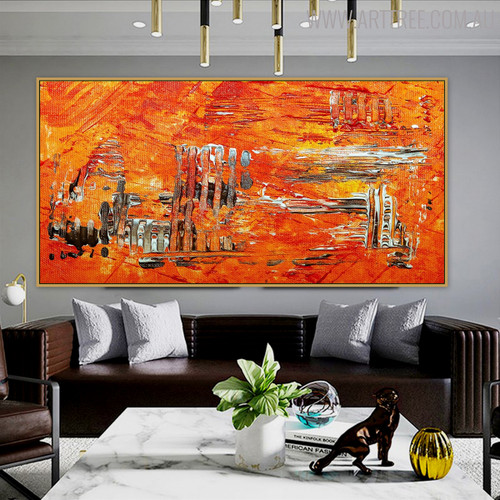 Chromatic Abstract Contemporary Texture Oil Smudge for Interior Wall Equipment