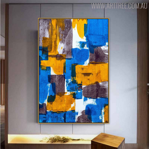 Deep Abstract Contemporary Texture Oil Perspective on Canvas for Interior Wall Flourish