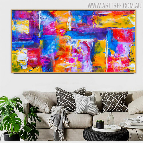Jovial Abstract Texture Canvas Wall Art for Room Wall Decoration