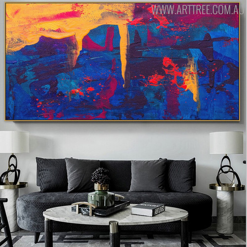 Intermix Abstract Modern Texture Canvas Effigy for Interior Wall Assortment