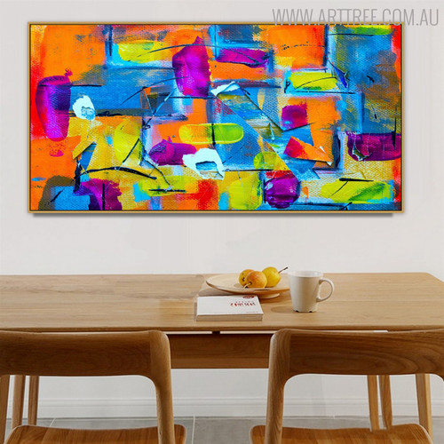 Brace Abstract Framed Texture Oil Portraiture for Dining Room Wall Disposition