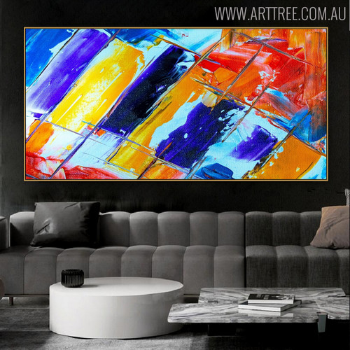 Stripes Abstract Framed Texture Acrylic Portrayal for Interior Wall Getup