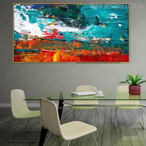Little Mix Abstract Framed Texture Handmade Oil Artwork for Interior Wall Ornament