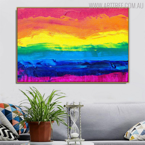 Figurative Art Abstract Framed Texture Oil Painting for Living Room Wall Decoration