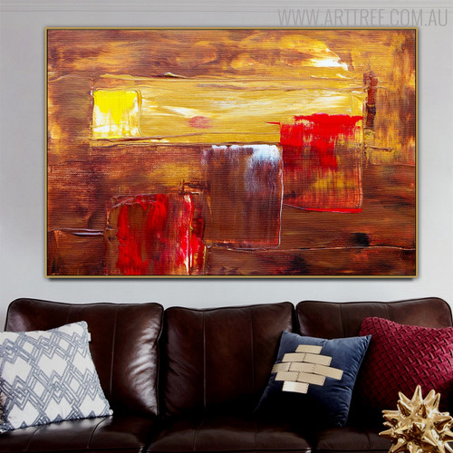Brush Pattern Abstract Modern Texture Handmade Canvas Portraiture for Room Wall Decoration