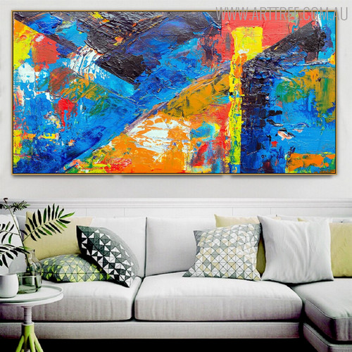 Shot Art Abstract Modern Texture Handmade Oil Painting for Room Wall Decor