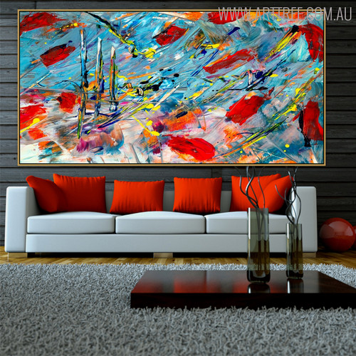 Scratches Effect Abstract Modern Texture Handmade Canvas Artwork for Living Room Wall Outfit
