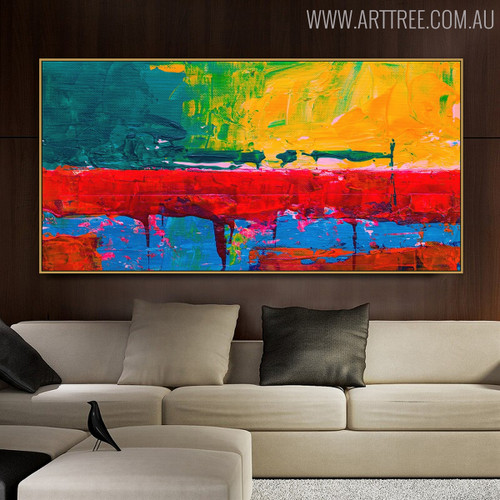 Row Abstract Modern Texture Acrylic Painting for Room Wall Garnish
