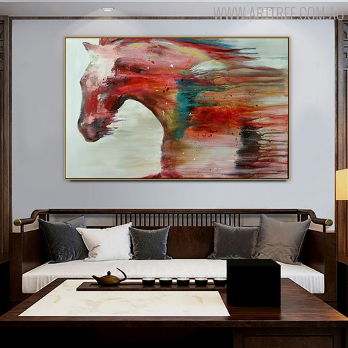 Horse Abstract Modern Animal Canvas Resemblance for Lounge Room Wall Getup