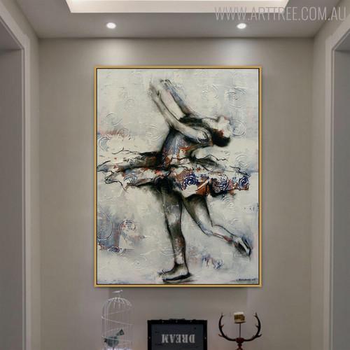 Dancer Figure Modern Canvas Artwork for Room Wall Decor