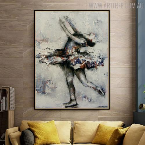 Dancer Figure Modern Canvas Artwork for Home Wall Getup