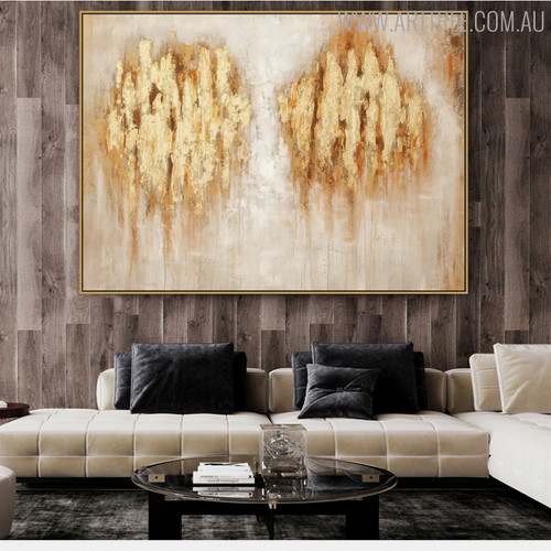 Marks Abstract Modern Acrylic Painting for Interior Wall Disposition