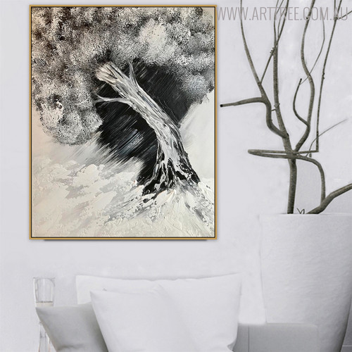 Storm Nature Framed Handpainted Canvas for Interior Wall Drape