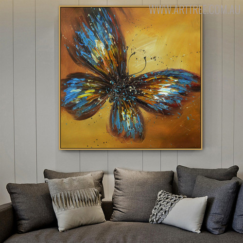 Copper Animal Modern Heavy Texture Acrylic Effigy for Living Room Wall Finery