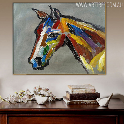 Studhorse Animal Modern Heavy Texture Knife Artwork for Home Wall Outfit