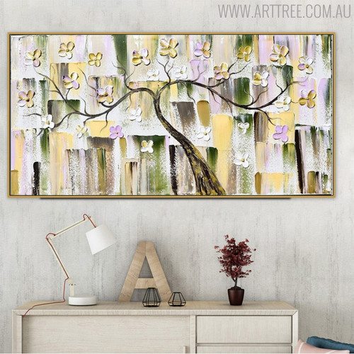 Daffodils Modern Abstract Heavy Floral Palette Knife Effigy for Wall Adornment