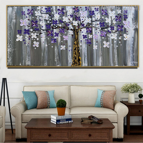 Chromatic Flowers Floral Modern Heavy Texture Handmade Oil Effigy for Lounge Room Wall Adornment