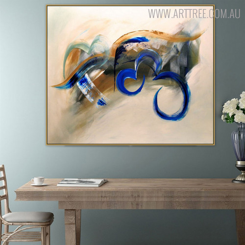 Motley Art Abstract Framed Heavy Texture Handmade Oil Effigy on Canvas for Room Wall Resemblance