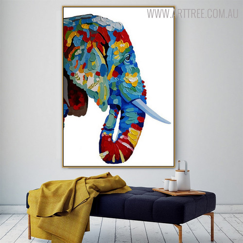 Elephant Face Animal Modern Heavy Texture Knife Effigy for Living Wall Ornament