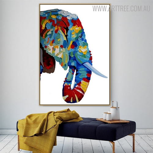 Elephant Face Animal Modern Heavy Texture Knife Effigy for Living Wall Ornament