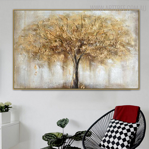 Abstract Arbor Modern Heavy Texture Handmade Canvas Art for Lounge Room Wall Finery