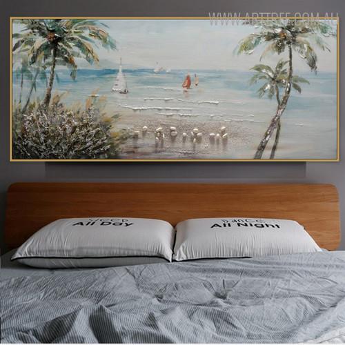 Beach Modern Panoramic Seascape Handmade Nature Likeness for Room Wall Disposition