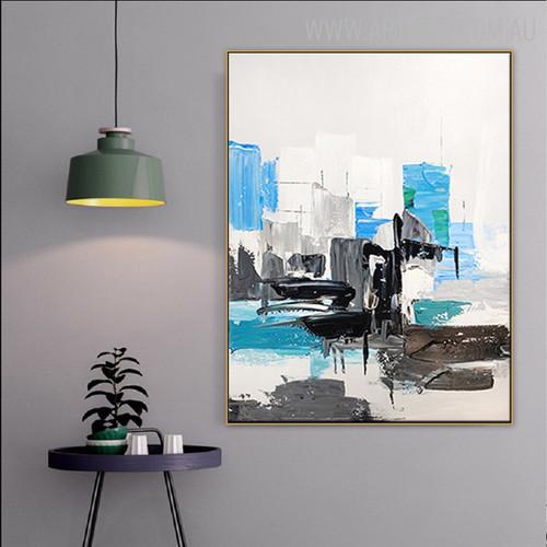 Chromatic Art Abstract Modern Texture Knife Effigy for Home Wall Garniture
