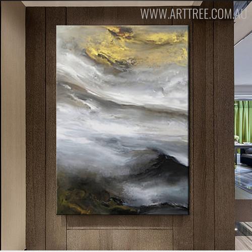 Firmament Abstract Modern Nature Handmade Canvas Portraiture for Wall Decor Design
