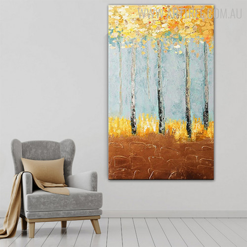 Money Trees Heavy Texture Handmade Oil Likeness on Canvas for Wall Decoration