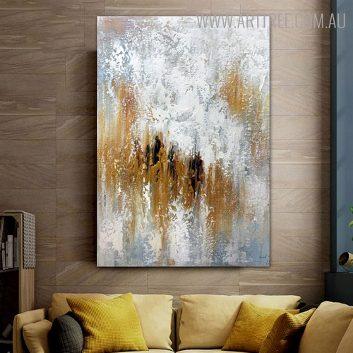 Hued Portrayal Abstract Modern Heavy Texture Handmade Canvas Artwork for Diy Wall Decor