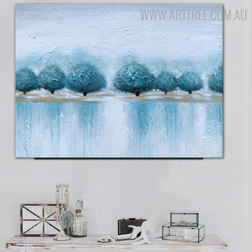 Shore Abstract Modern Heavy Texture Handmade Canvas Art for House Interior Design