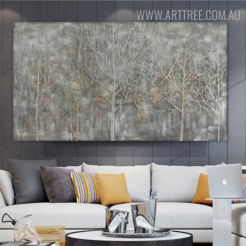 Winter Scrub Abstract Framed Bold Texture Handmade Canvas Artwork for Lounge Room Wall Onlay
