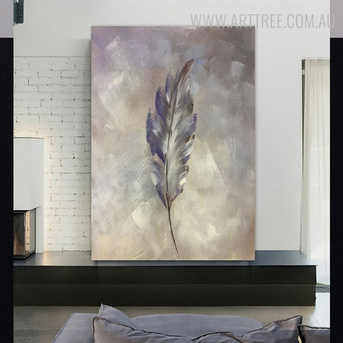Grey Wing Abstract Modern Framed Handmade Canvas Portraiture for Wall Decoration