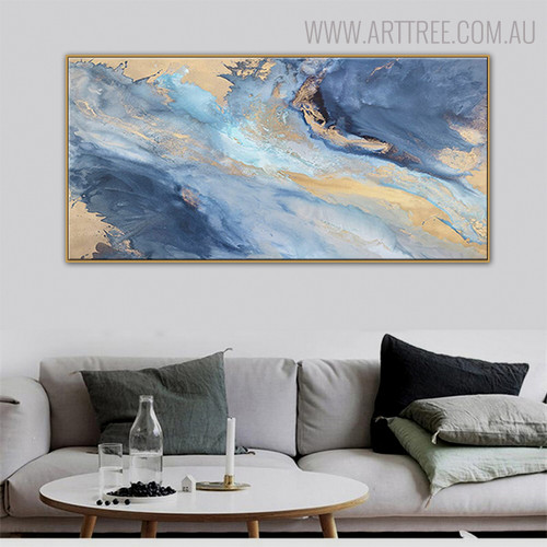 Smalt Abstract Acrylic Portraiture for Lounge Room Wall Ornament