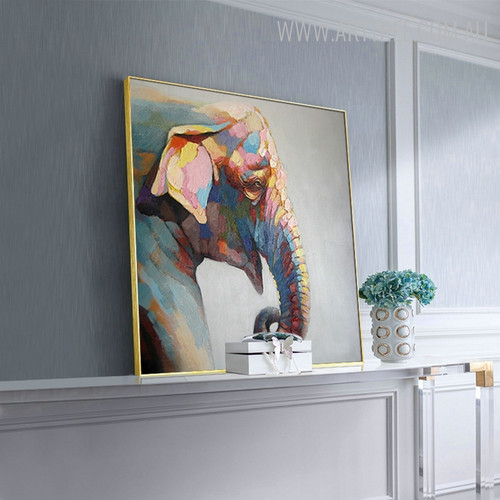 Jumbo Head Animal Modern Knife Painting for Room Interior Design