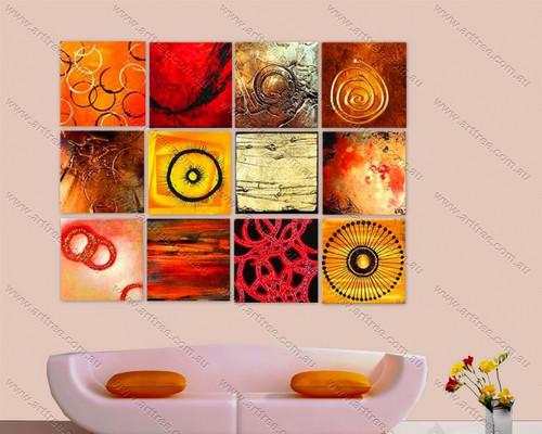 circular multipanel painting