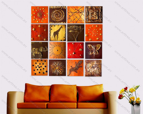 Animals Pattern Oil Painting