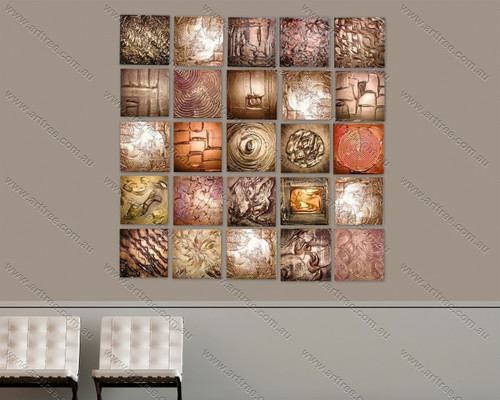 Multipanel Textured Artwork