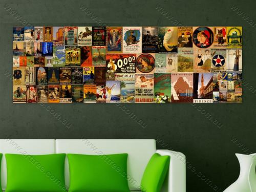 Sanremo Vintage Poster Collage